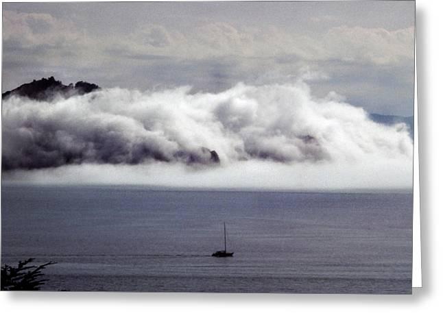 Angel Island Fog Greeting Card