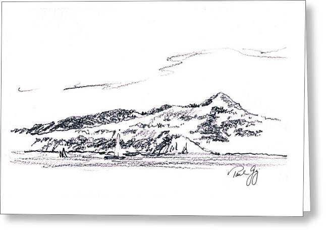 Angel Island From Sausalito Greeting Card by Paul Gaj