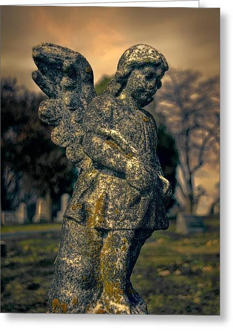 Angel Greeting Card by Jemmy Archer