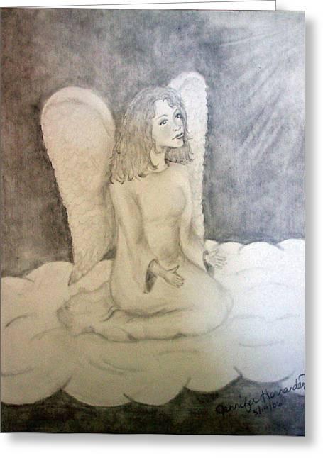 Angel Greeting Card by Jennifer Hernandez