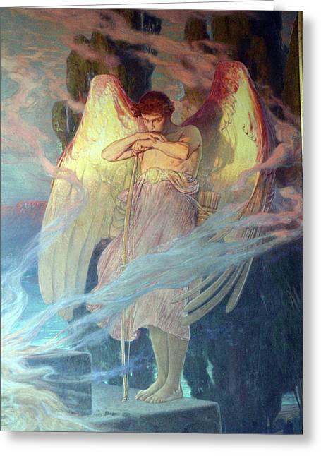Angel Greeting Card by Julius Kronberg