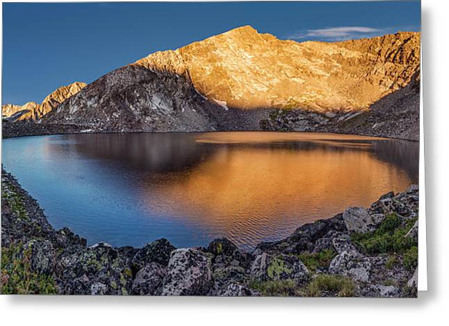 Angel Lake Greeting Card by Leland D Howard