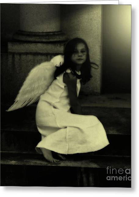 Angel Light Greeting Card by Holly Ethan
