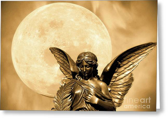 Angel Moon Greeting Card