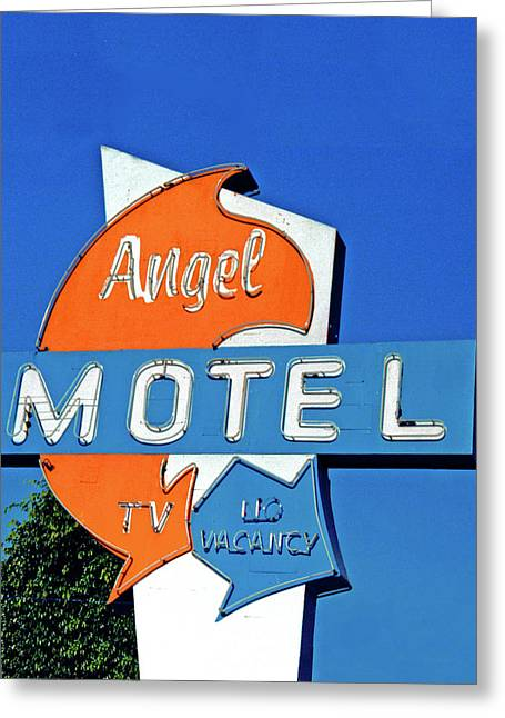 Greeting Card featuring the photograph Angel Motel by Matthew Bamberg