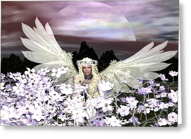 Eva Thomas Greeting Cards - Angel my Guardian Greeting Card by Eva Thomas