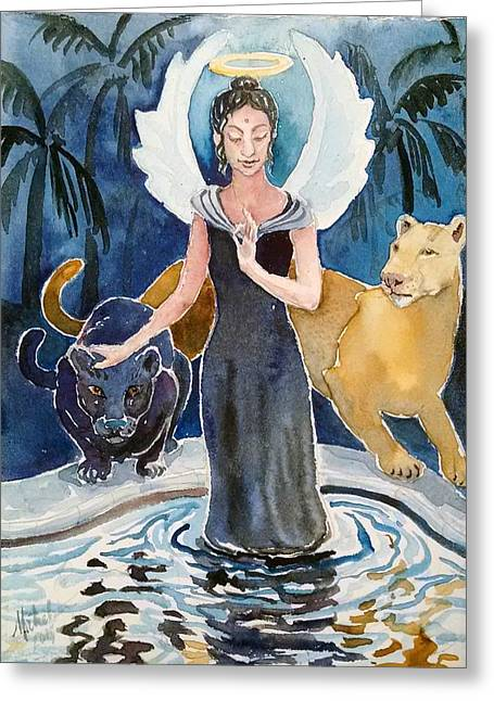 Angel Of Balance And Harmony Greeting Card