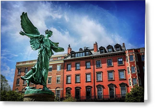 Angel Of Boston  Greeting Card