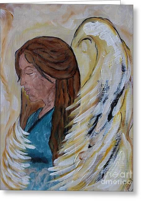 Angel Of Comfort Greeting Card by Ella Kaye Dickey