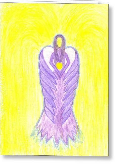 Angel Of Compassion Greeting Card by Konstadina Sadoriniou - Adhen
