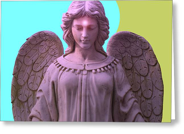Seraphim Angel Mixed Media Greeting Cards - Angel of Devotion No. 05 Greeting Card by Ramon Labusch