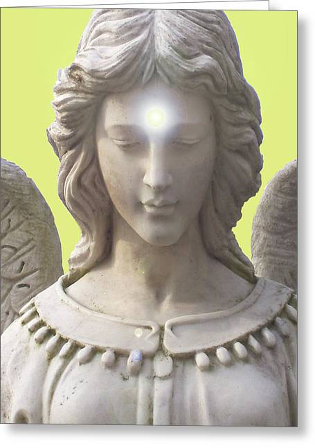 Anjo Greeting Cards - Angel of Devotion No. 12 Greeting Card by Ramon Labusch
