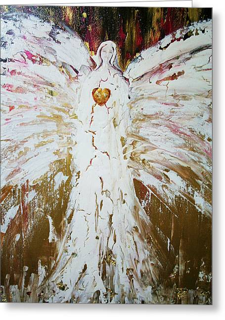 Angel Of Divine Healing Greeting Card by Alma Yamazaki