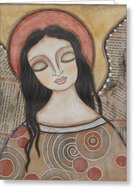 Angel Of Dreams Greeting Card by Rain Ririn