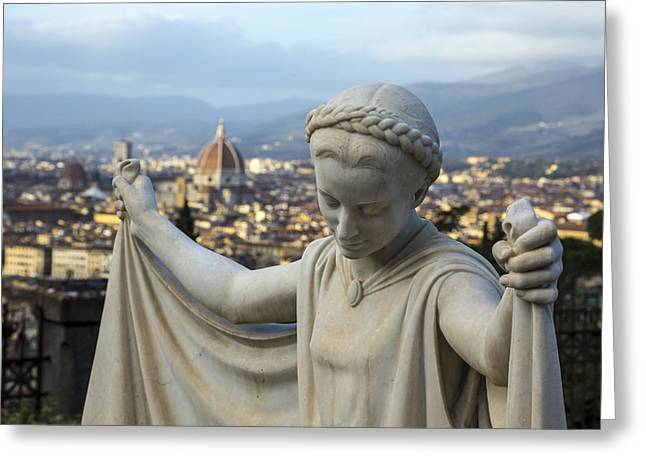 Angel Of Firenze Greeting Card by Sonny Marcyan