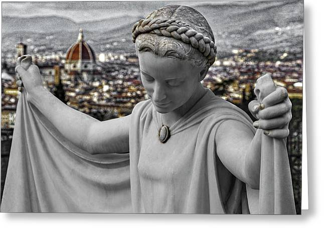 Angel Of Florence Greeting Card by Sonny Marcyan