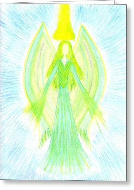 Angel Of Generosity Greeting Card by Konstadina Sadoriniou - Adhen