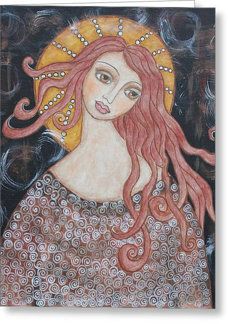 Angel Of Grace Greeting Card by Rain Ririn