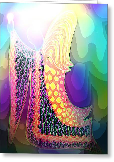 Angel Of Gratitude Greeting Card by Mairin Gilmartin