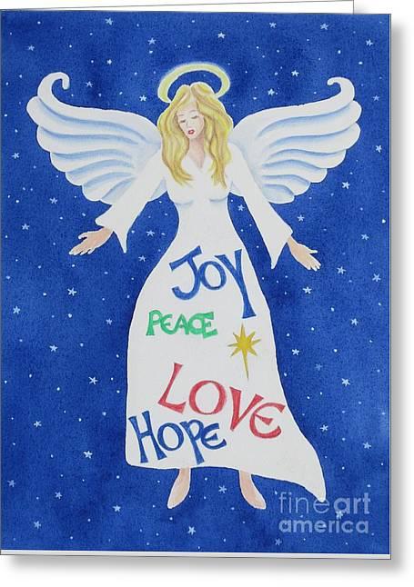 Angel Of Hope Greeting Card by Deborah Ronglien