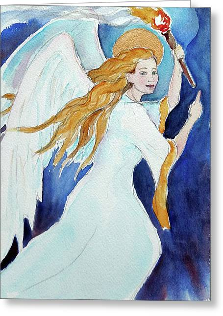 Angel Of Illumination Greeting Card