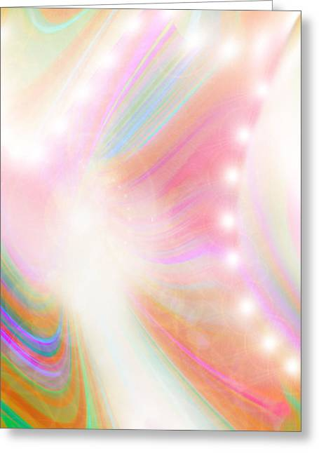 Angel Of Light And Colour Greeting Card by Mairin Gilmartin