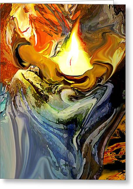 Angel Of Light Greeting Card by Anne Weirich