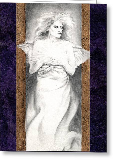 Greeting Card featuring the painting Angel Of Light by Ragen Mendenhall