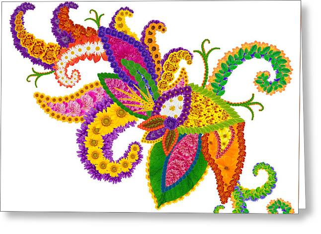 Angel Of Love Abstract Floral Symbol Greeting Card by Aleksandr Volkov
