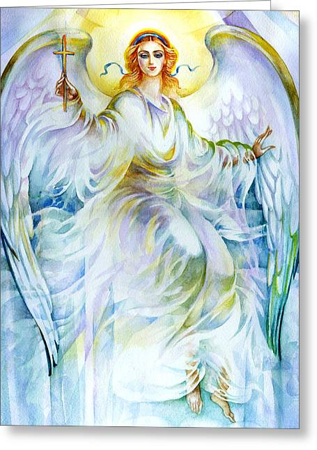 Angel Of Love Greeting Card by Karen Showell