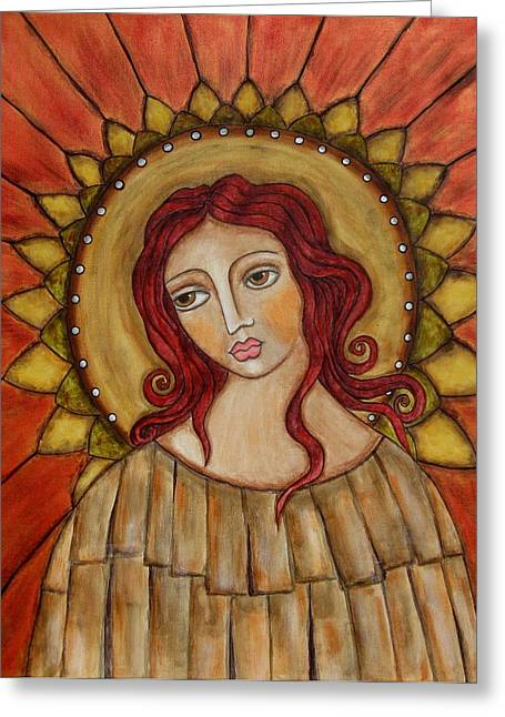 Angel Of Nature Greeting Card by Rain Ririn
