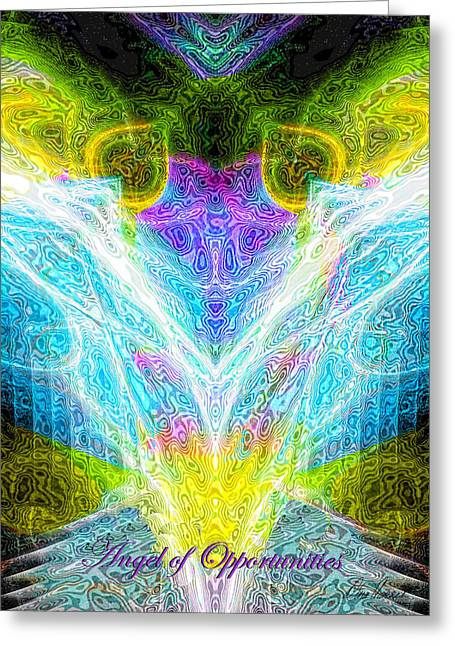 Angel Of Opportunities Greeting Card by Diana Haronis