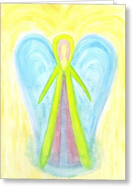 Angel Of Protection Greeting Card by Konstadina Sadoriniou - Adhen