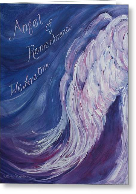 Angel Of Remembrance Greeting Card