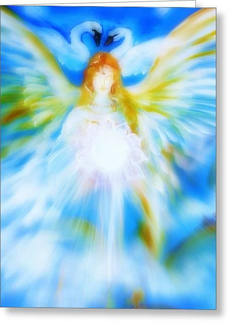 Angel Of Serenity Greeting Card by Alma Yamazaki