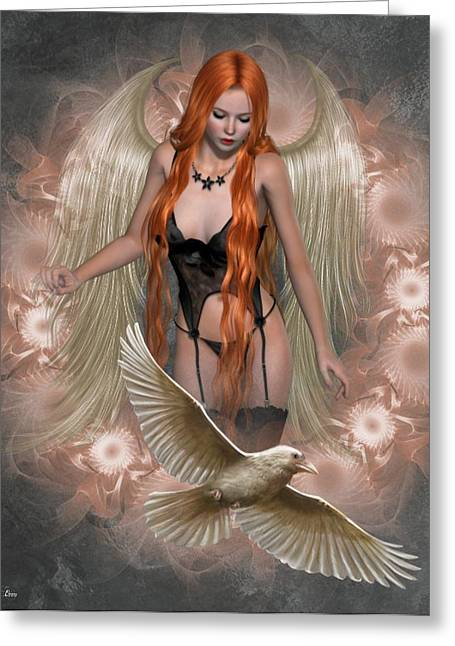 Angel Of The Ravens Greeting Card