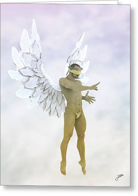 Angel Of The Sugar Cloud Greeting Card