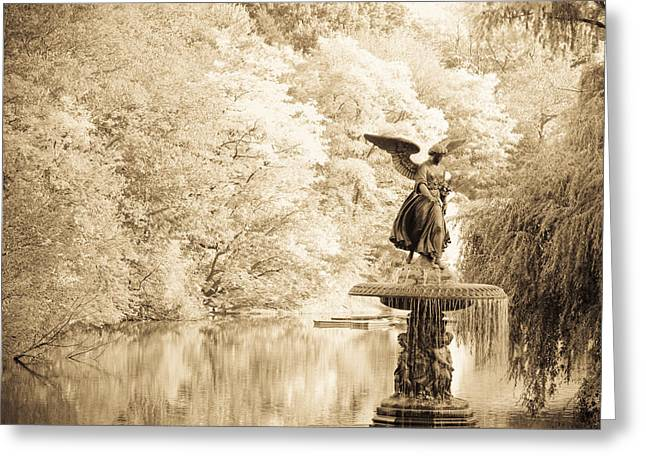 Angel Of The Waters Greeting Card by Andria Patino