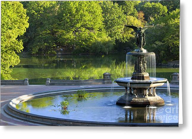 Angel Of The Waters Greeting Card by Brian Jannsen