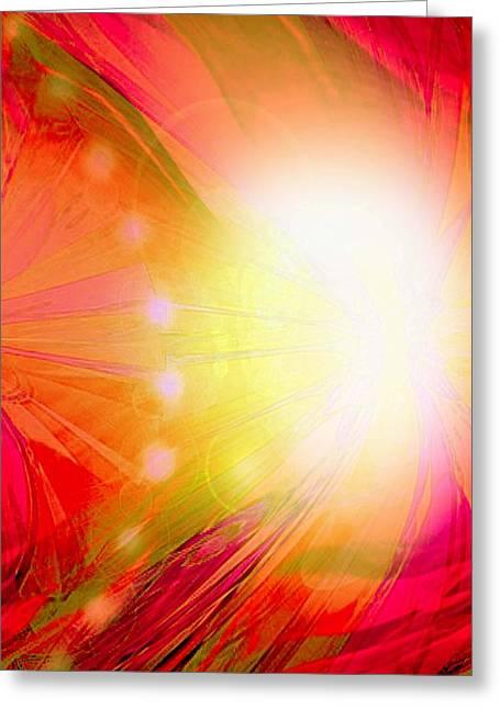 Angel Of Transformation Greeting Card by Mairin Gilmartin