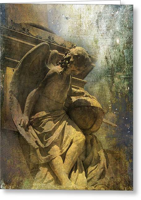 Angel On Watch Greeting Card