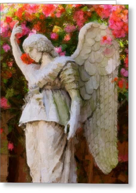 Angel Greeting Card by Paul Bartoszek