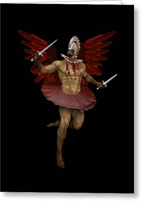 Angel Clown Greeting Card by Quim Abella