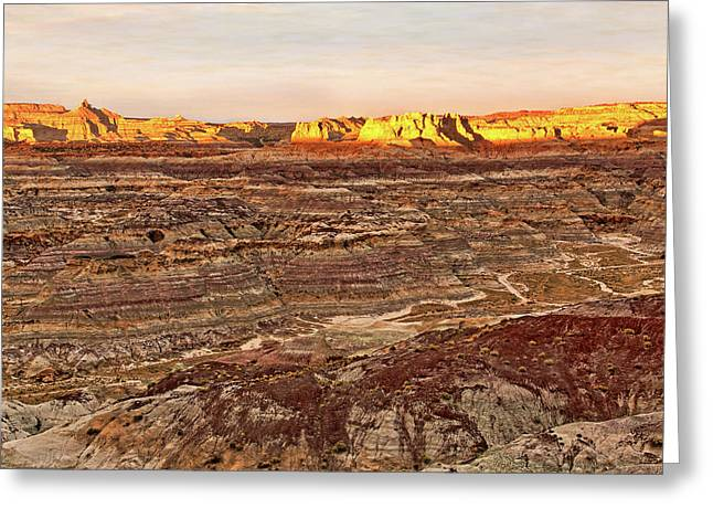 Angel Peak Badlands - New Mexico - Landscape Greeting Card