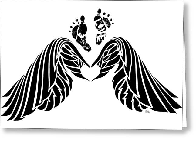 Angel Prints Greeting Card