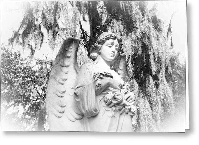Angel Greeting Card by Sabrina  Long