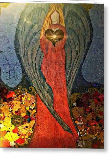Angel Sails Waves Of Love Greeting Card
