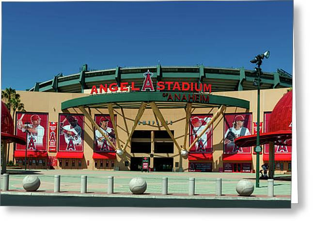 Angel Stadium Greeting Card by Mountain Dreams