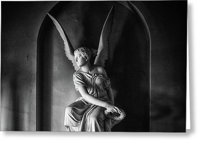 Angel Statue Greeting Card by Martin Newman