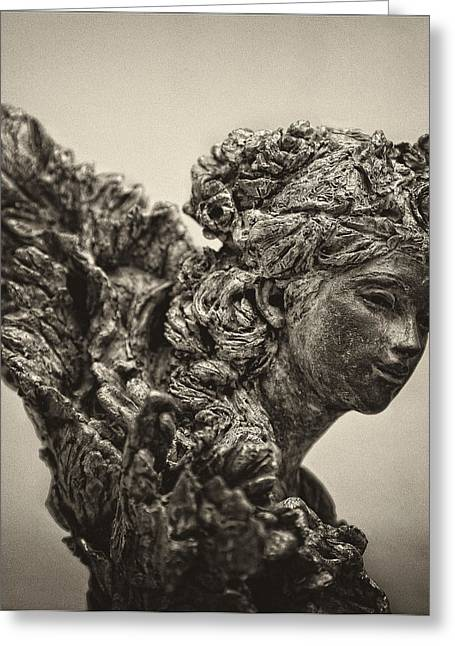 Angel Statue Greeting Card by Robert Ullmann